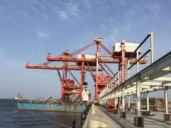 Solitary support scaffold crane